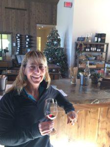 Kara from 805 Wine Country doing some wine tasting at Adelaida Cellars