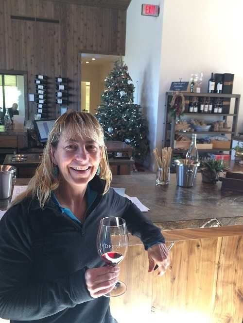Kara from 805 Wine Country doing some wine tasting at Adelaida Cellars