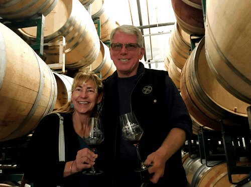 photo Barrel tasting with Steve Gleason, Four Lanterns Winery