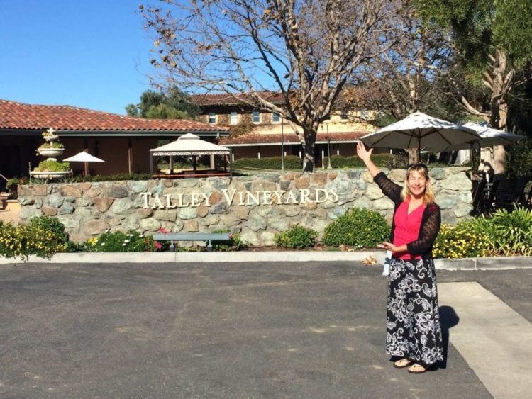 Talley Vineyards entrance sign and tasting room
