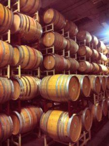 Talley Vineyards barrel room.