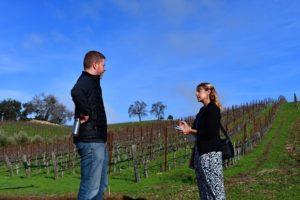 Kara from 805 Wine Country interviews Jason Haas in the Tablas Creek Vineyard