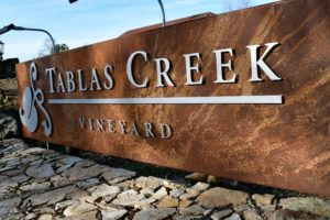 Outside Tablas Creek Vineyards tasting room.