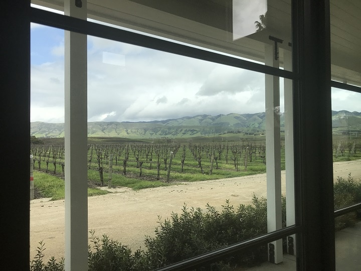 Views of Edna Valley from within the tasting room
