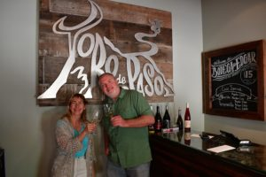 805 Wine Country (Kara and Andrew) at the tasting room at Bodega de Toro in Paso Robles