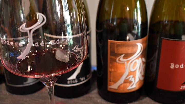 A delicious view of some of the wine (and bottles) you would sample at the Bodega de Edgar tasting room in Paso Robles