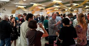 photo of wine-tasting crowd at Garagiste Festival Paso Robles
